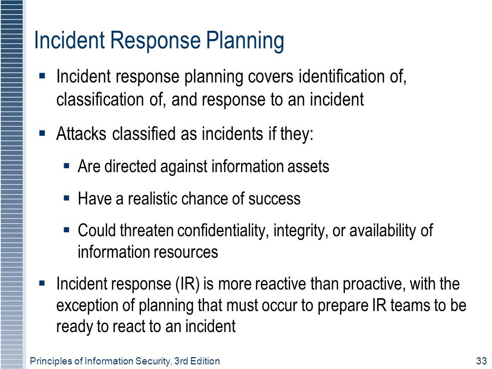 Incident Response Planning