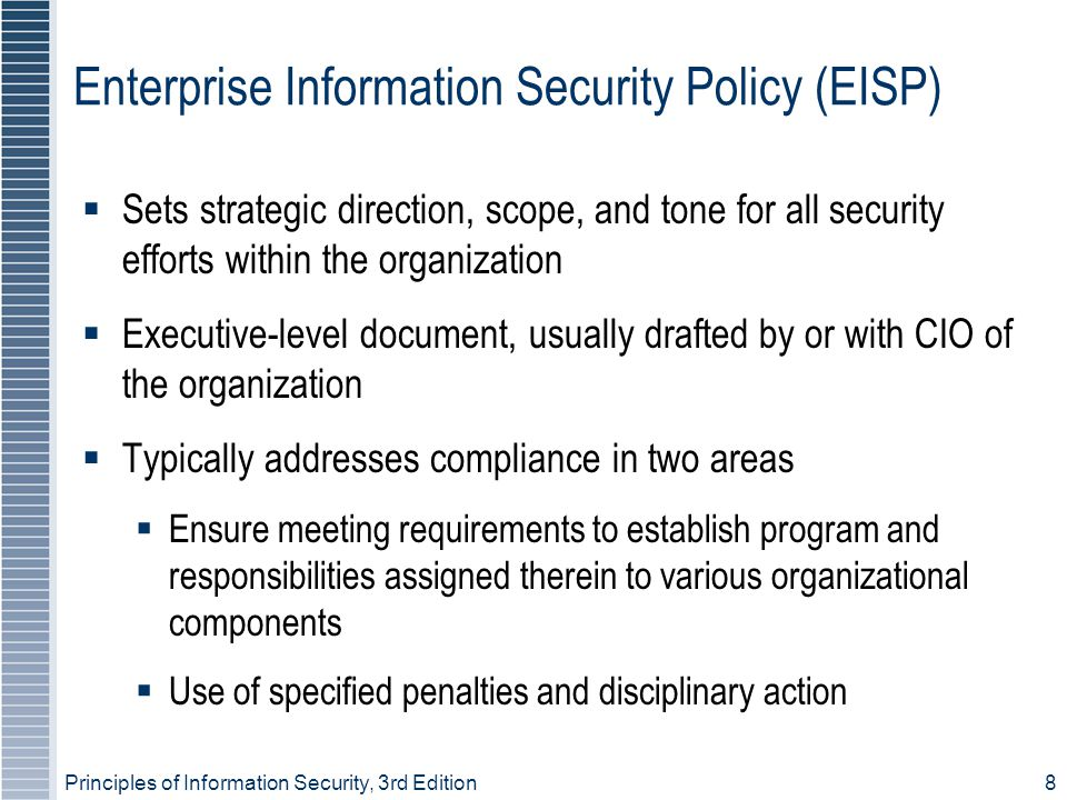 Enterprise Information Security Policy (EISP)
