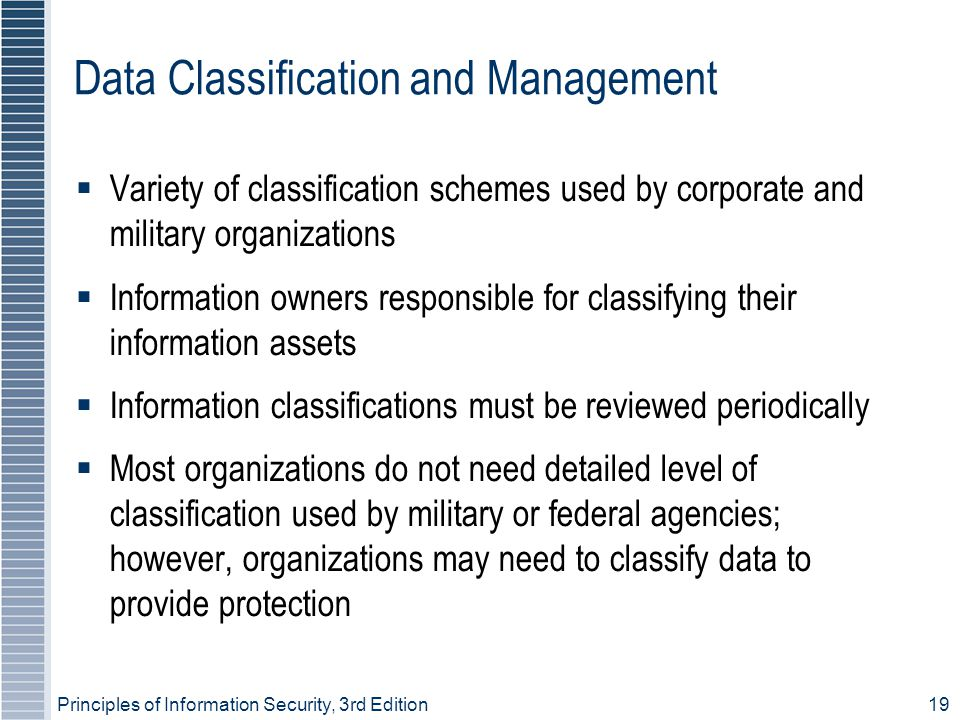 Data Classification and Management