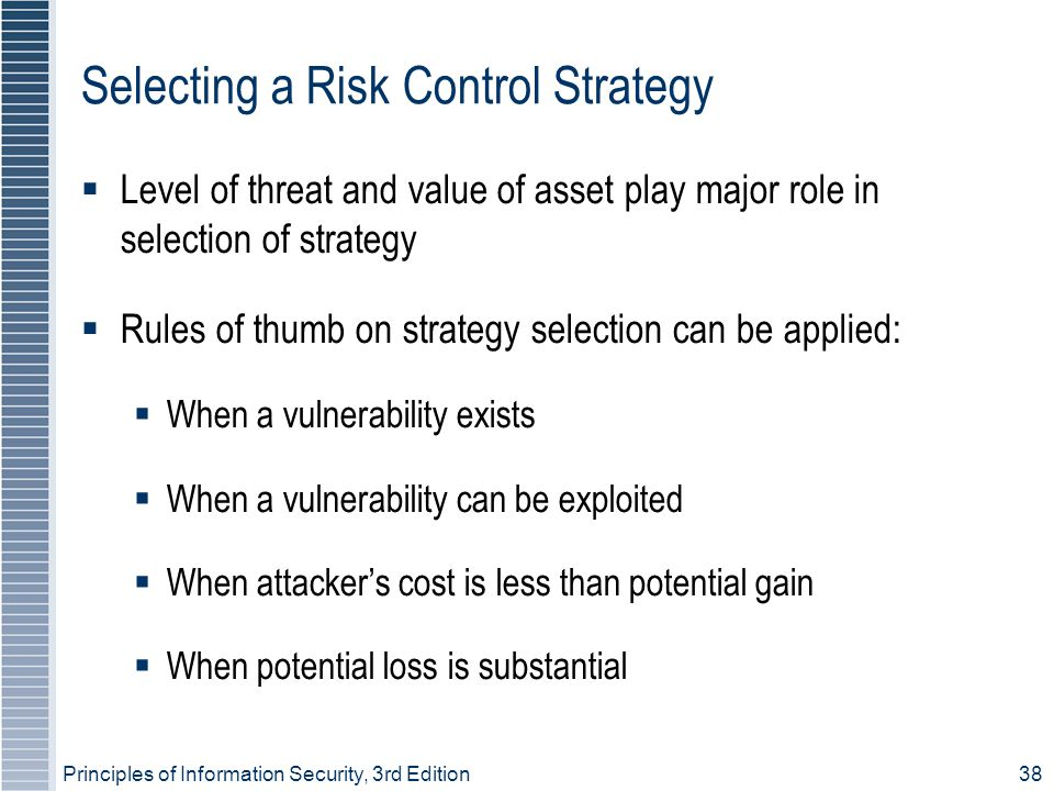 Selecting a Risk Control Strategy