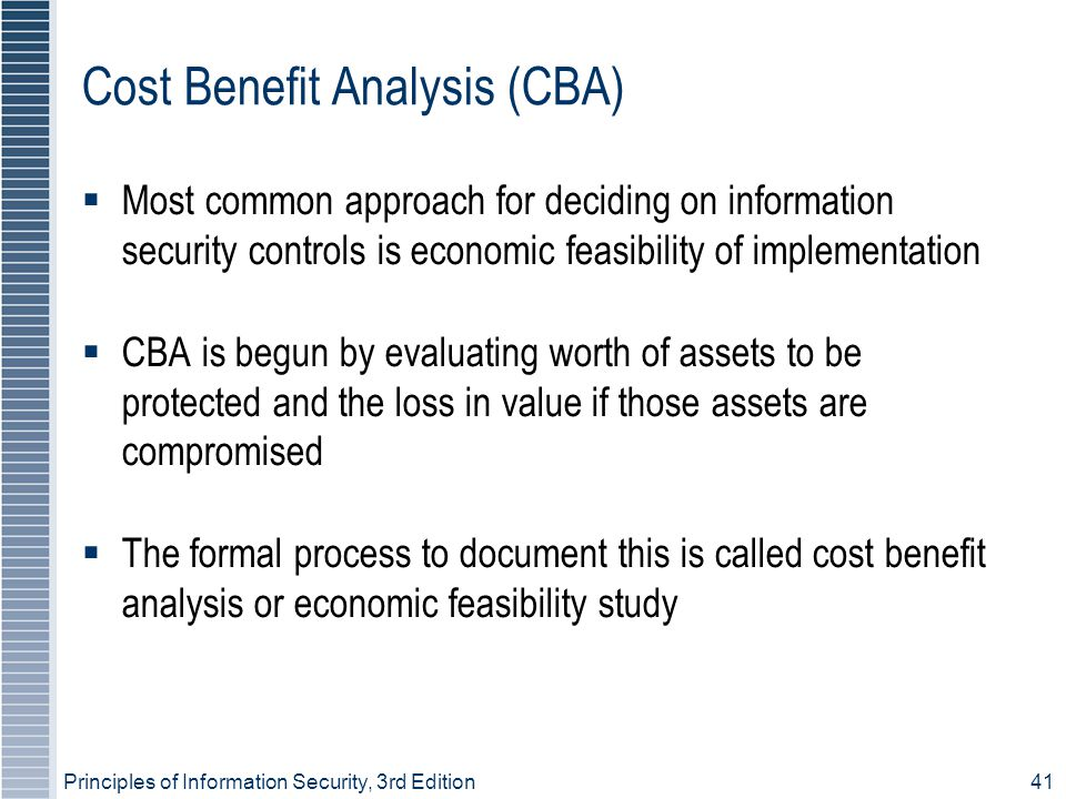 Cost Benefit Analysis (CBA)‏