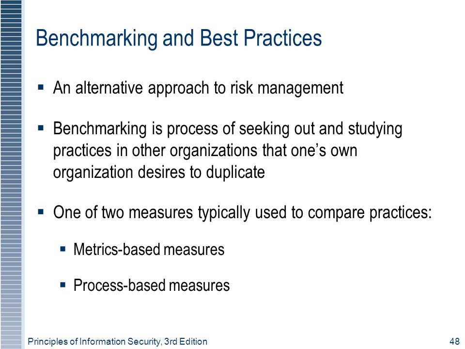 Benchmarking and Best Practices