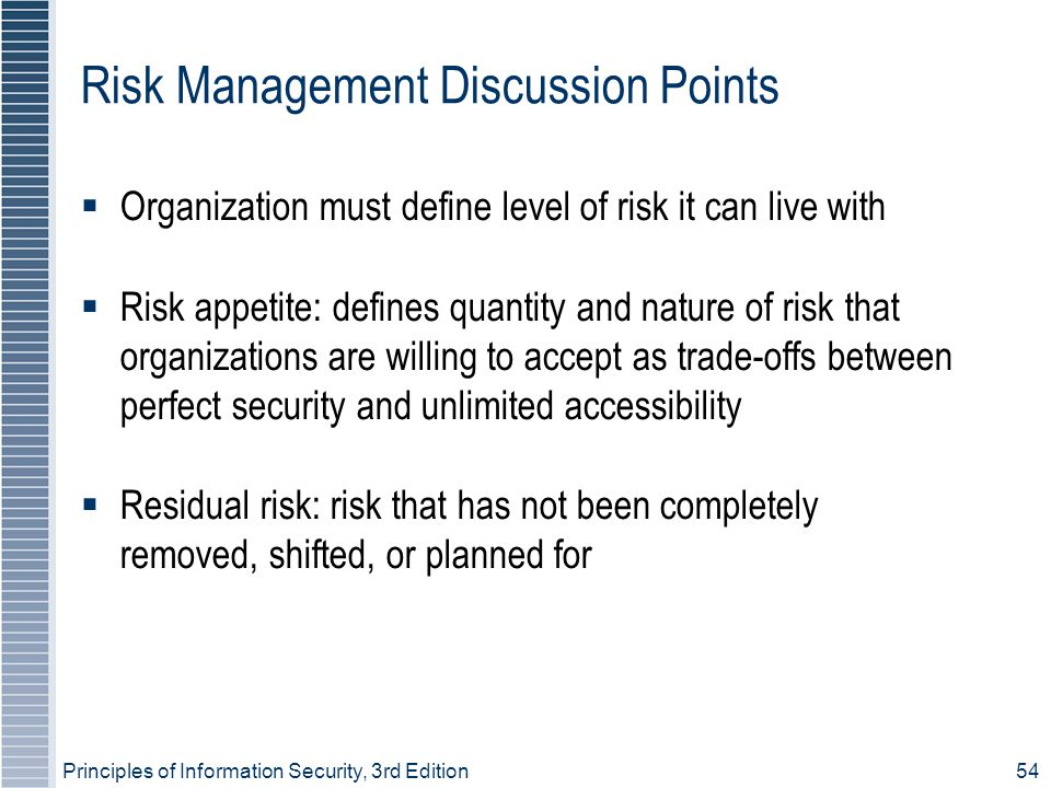 Risk Management Discussion Points