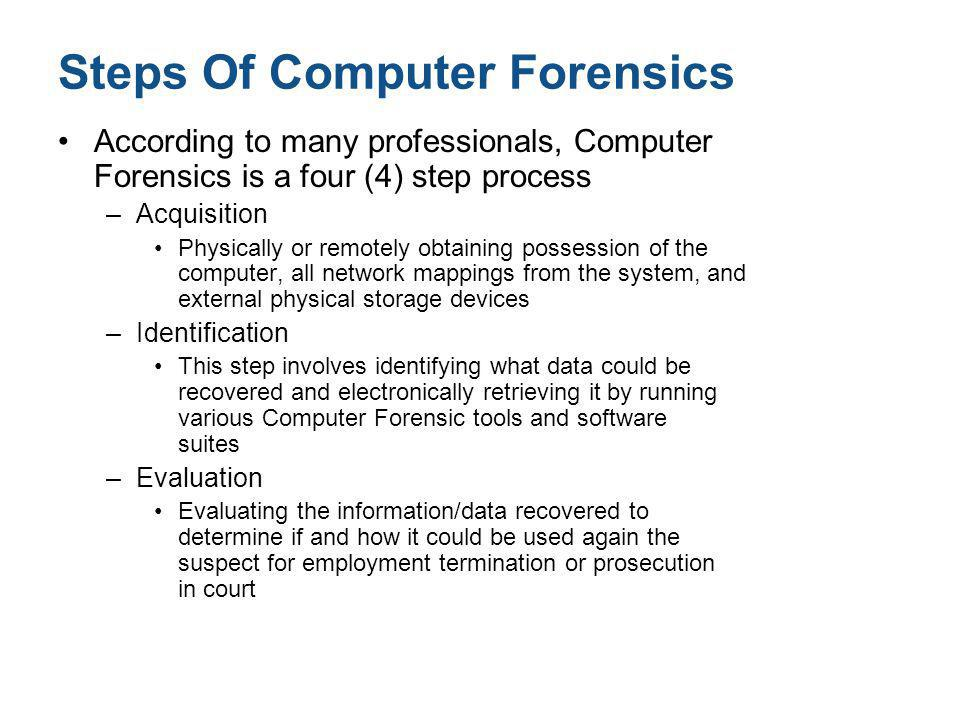 Steps Of Computer Forensics
