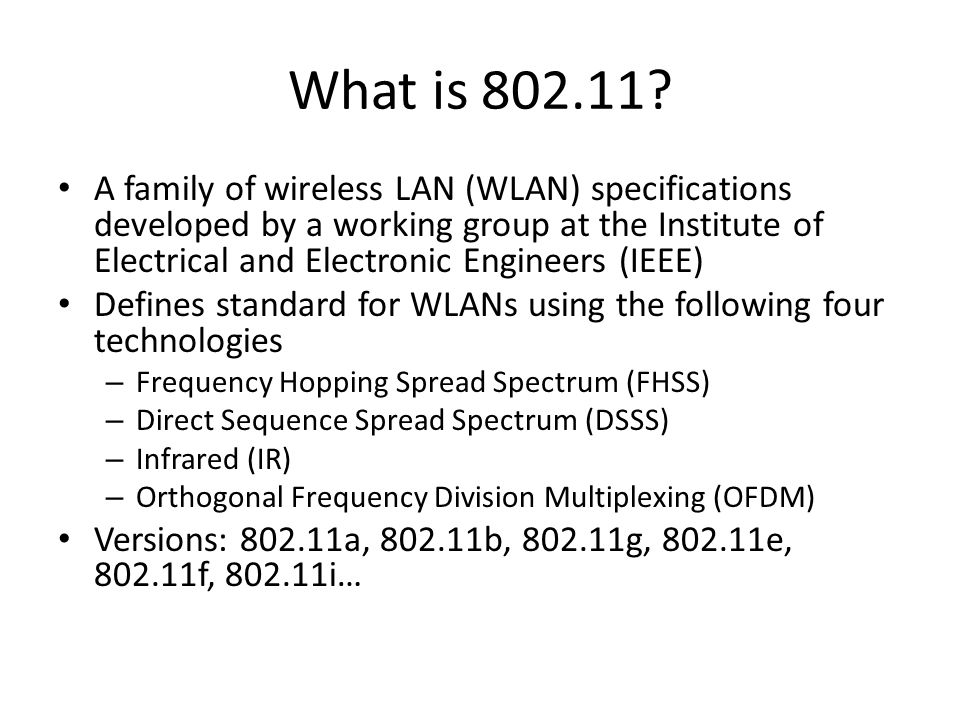 What is 802.11