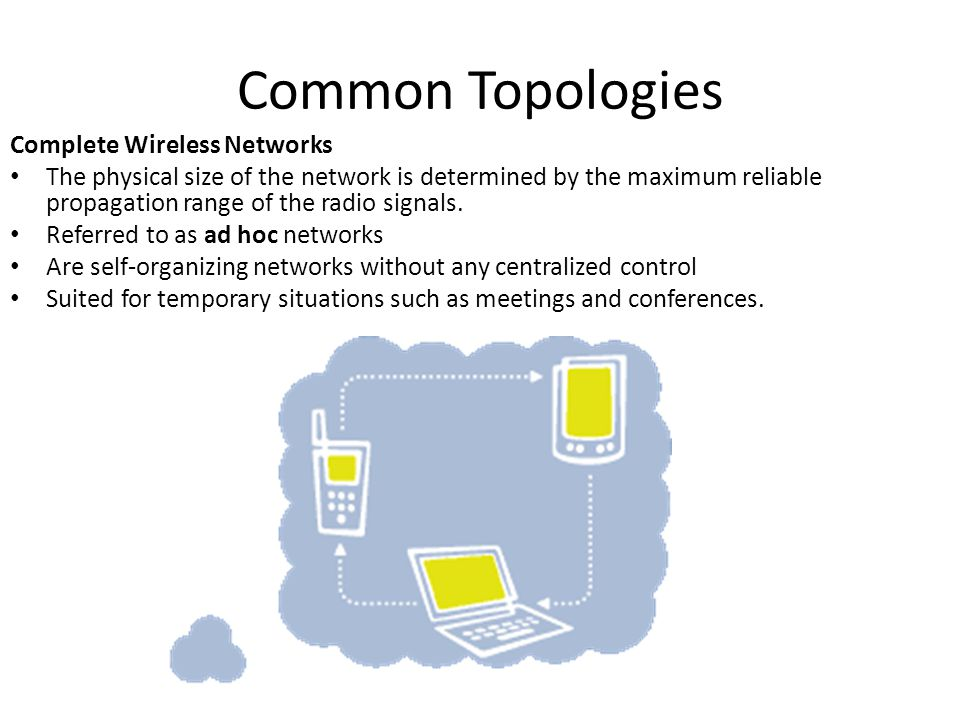 Common Topologies Complete Wireless Networks
