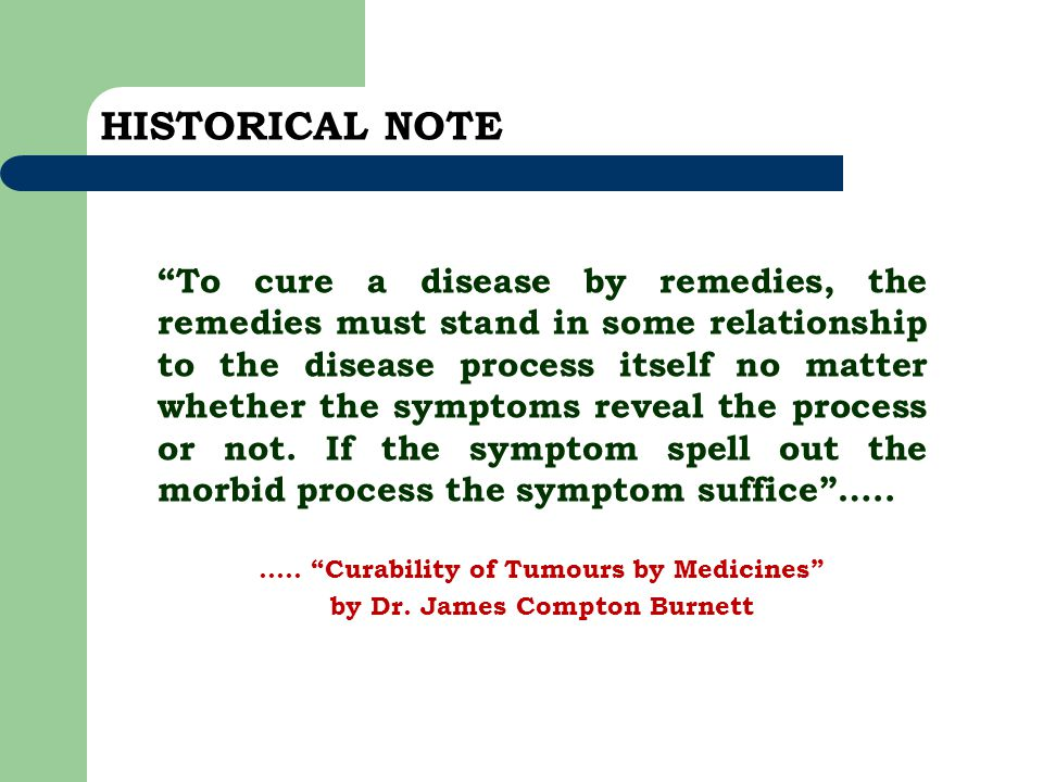 ….. Curability of Tumours by Medicines by Dr. James Compton Burnett