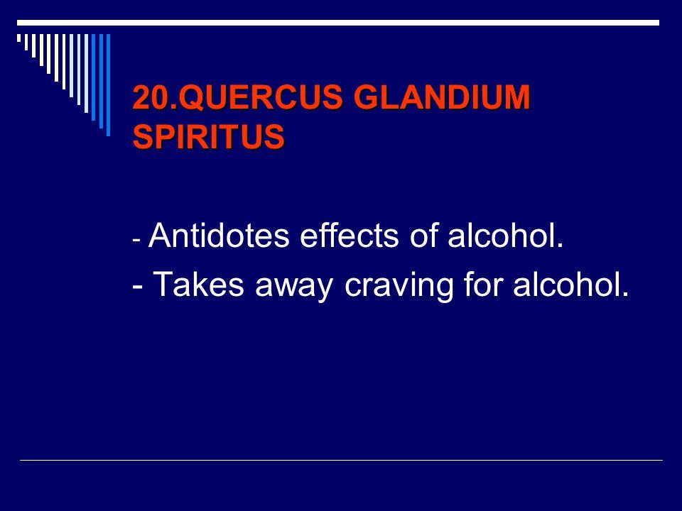 20.QUERCUS GLANDIUM SPIRITUS