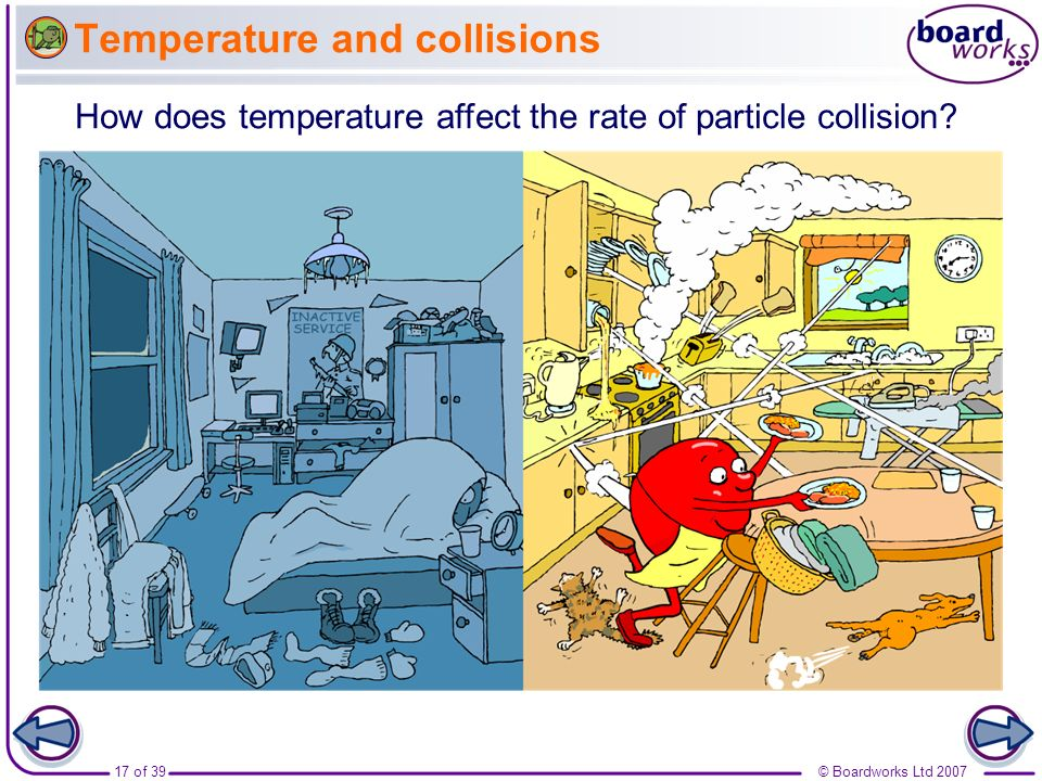 Temperature and collisions