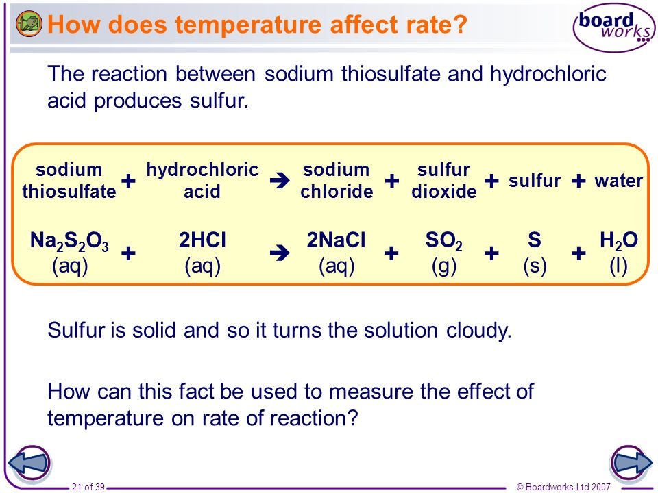 How does temperature affect rate