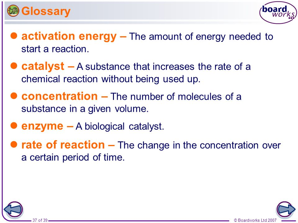 Boardworks GCSE Additional Science: Chemistry Rates of Reaction