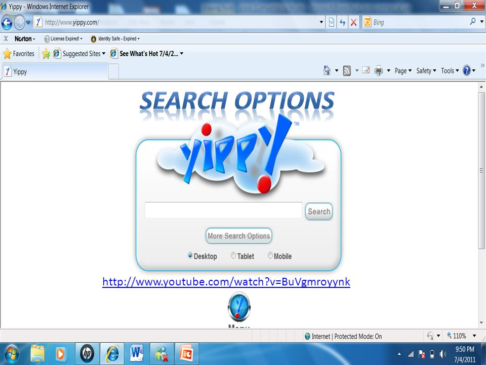 Search options http://www.youtube.com/watch v=BuVgmroyynk