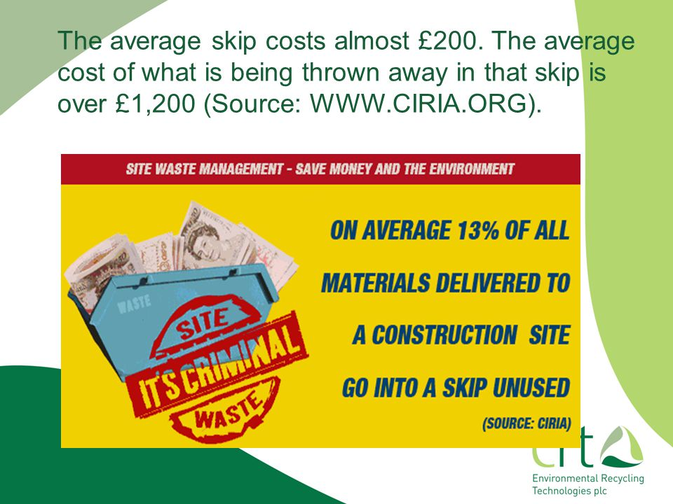 The average skip costs almost £200