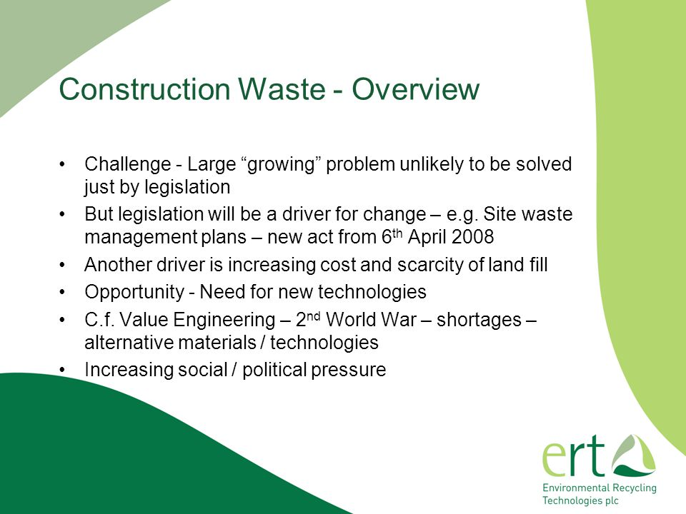 Construction Waste - Overview