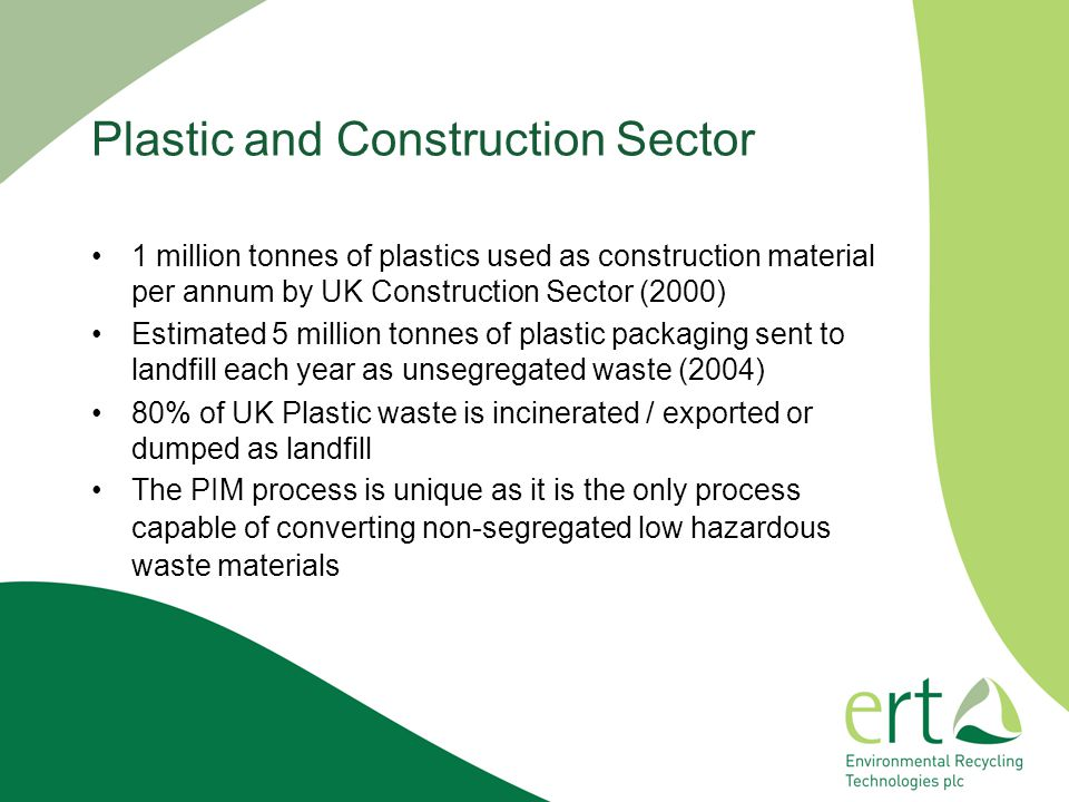 Plastic and Construction Sector