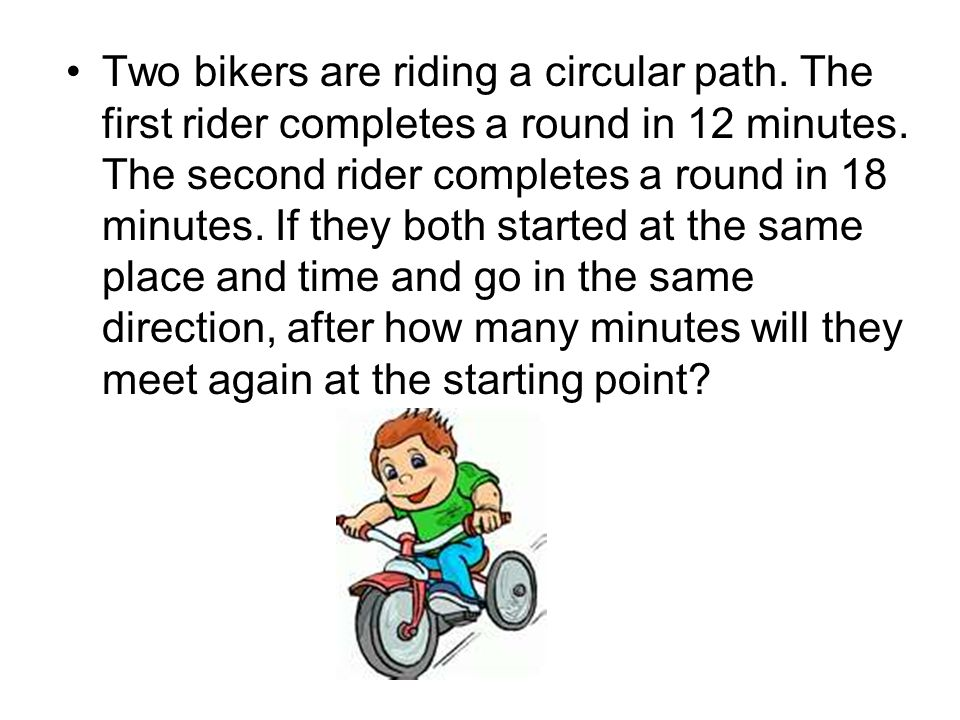 Two bikers are riding a circular path
