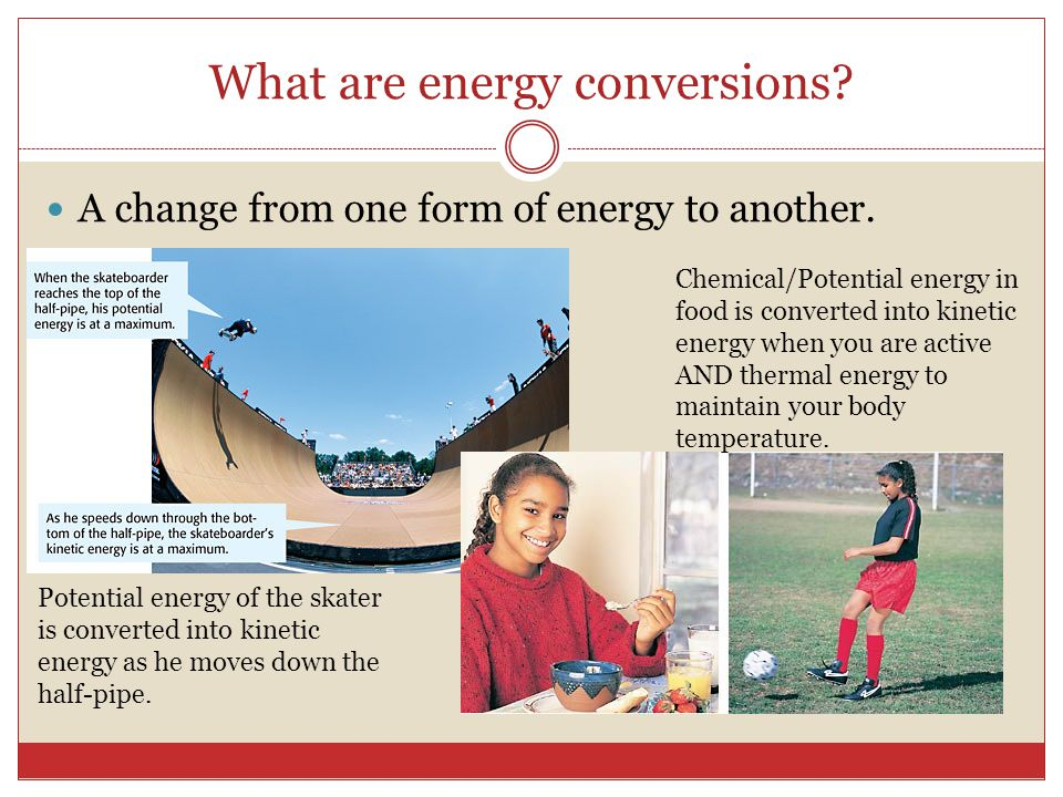 What are energy conversions