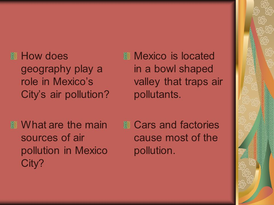 How does geography play a role in Mexico's City's air pollution