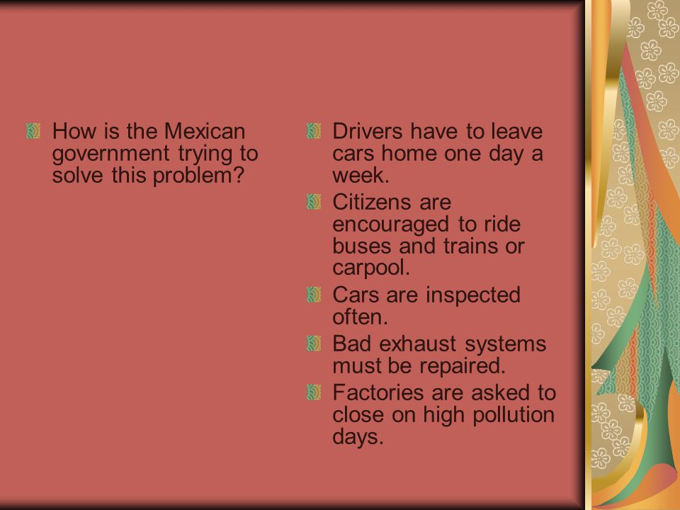 How is the Mexican government trying to solve this problem