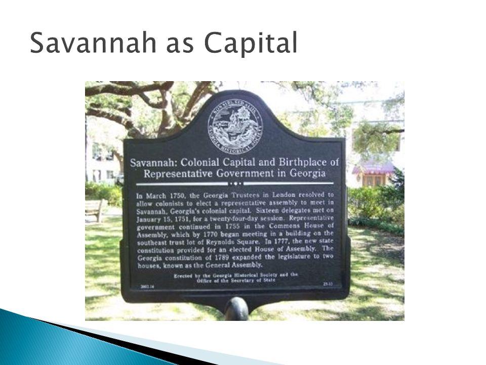 Savannah as Capital