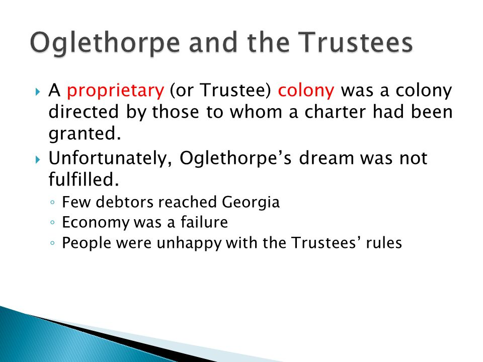 Oglethorpe and the Trustees