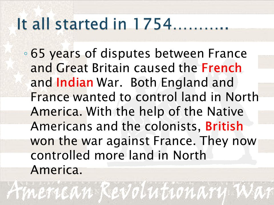 It all started in 1754………..