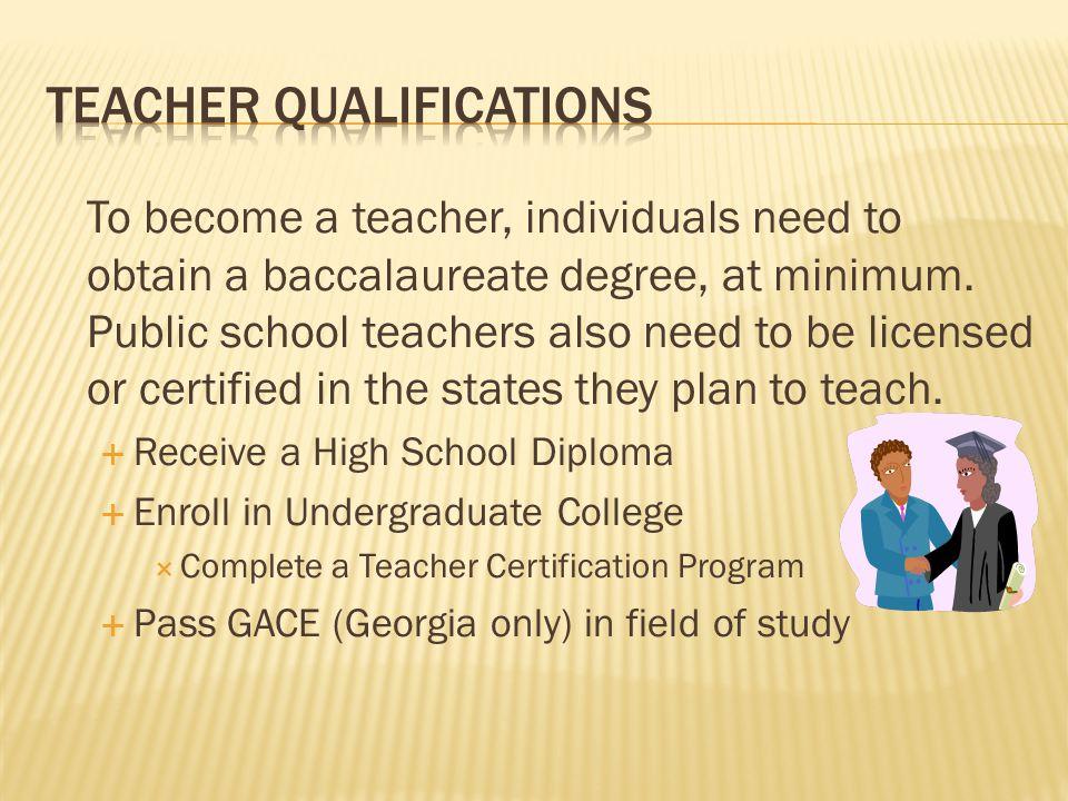 Teacher Qualifications