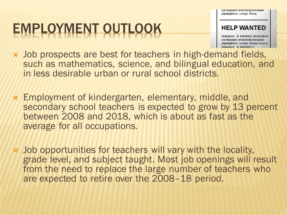 Employment outlook