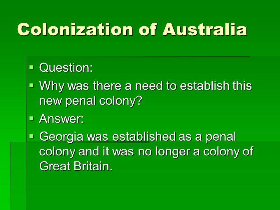 Colonization of Australia