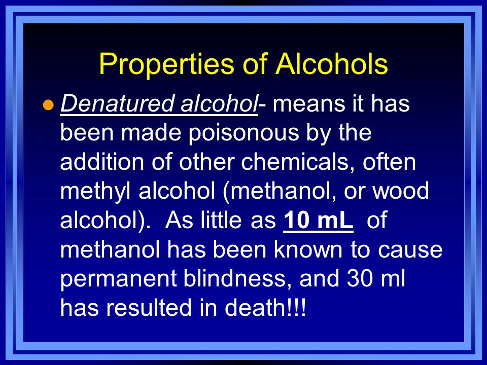 Properties of Alcohols