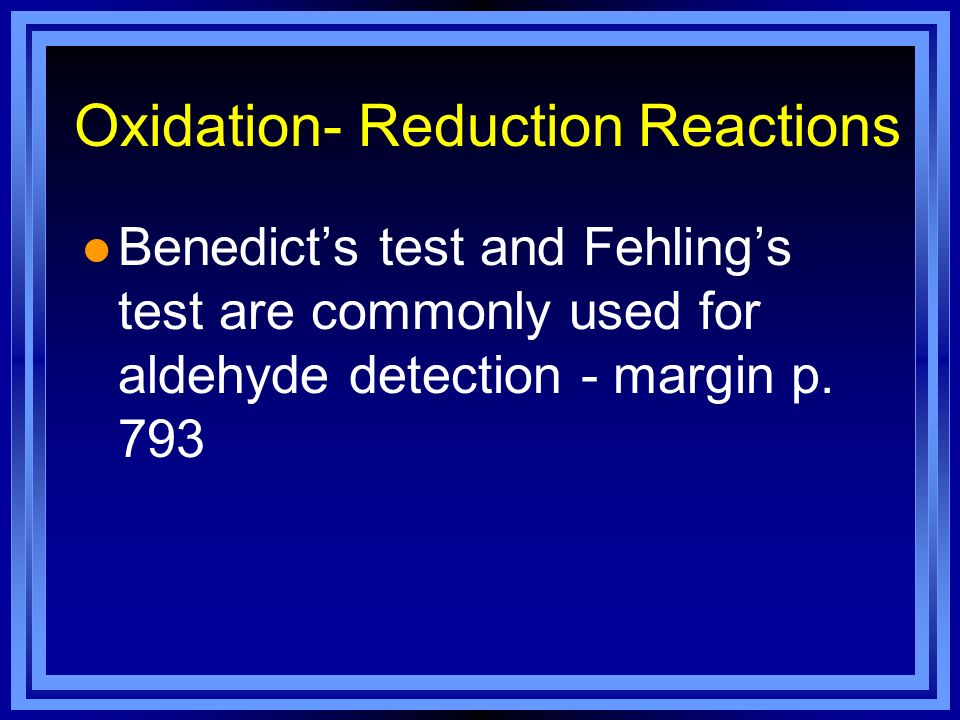 Oxidation- Reduction Reactions
