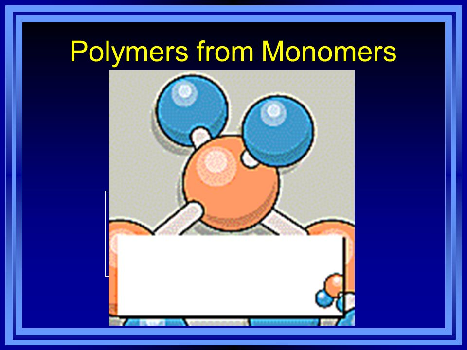 Polymers from Monomers