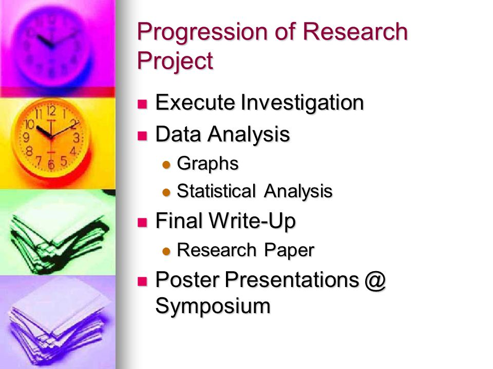 Progression of Research Project