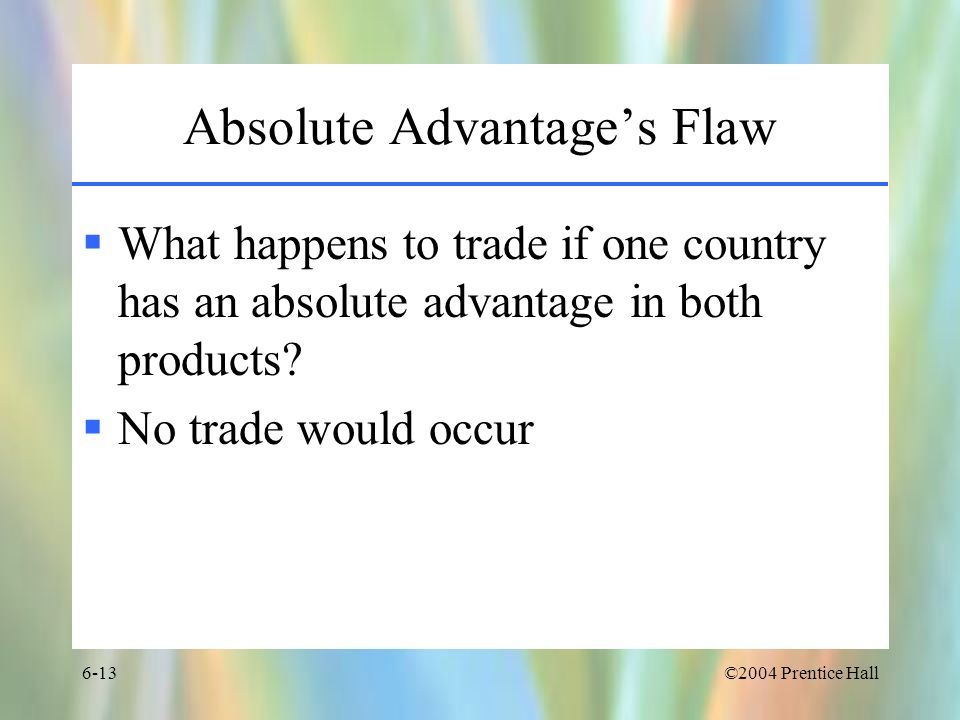Absolute Advantage's Flaw