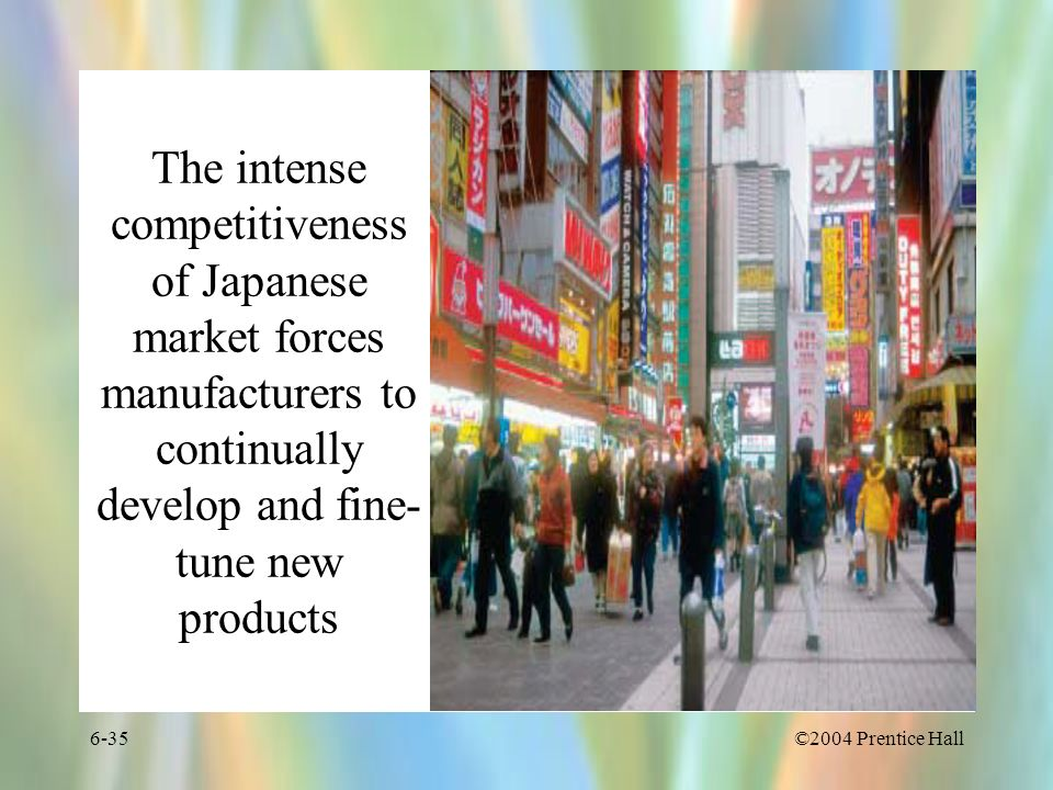 The intense competitiveness of Japanese market forces manufacturers to continually develop and fine-tune new products