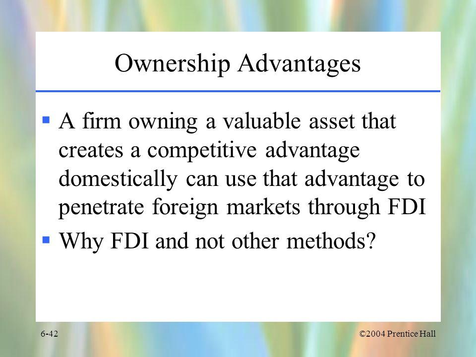 Ownership Advantages