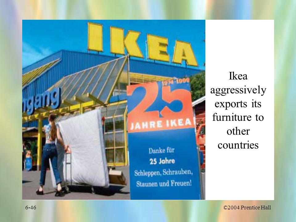 Ikea aggressively exports its furniture to other countries