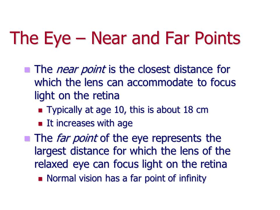 The Eye – Near and Far Points