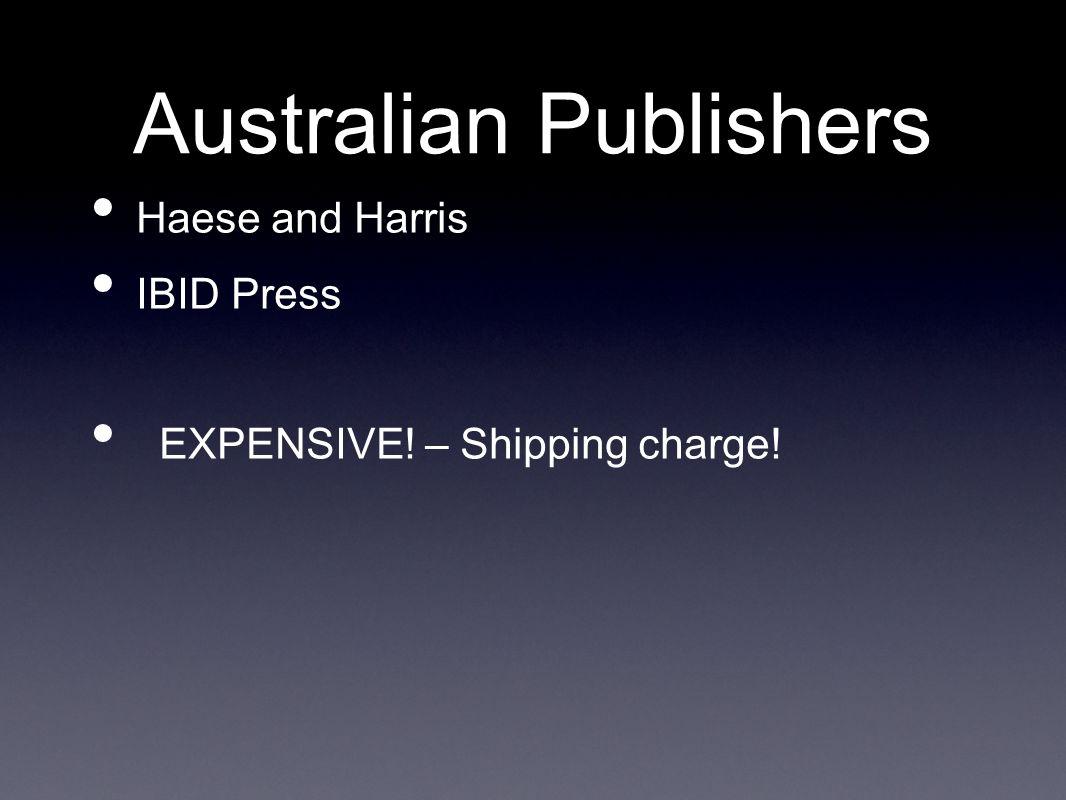Australian Publishers