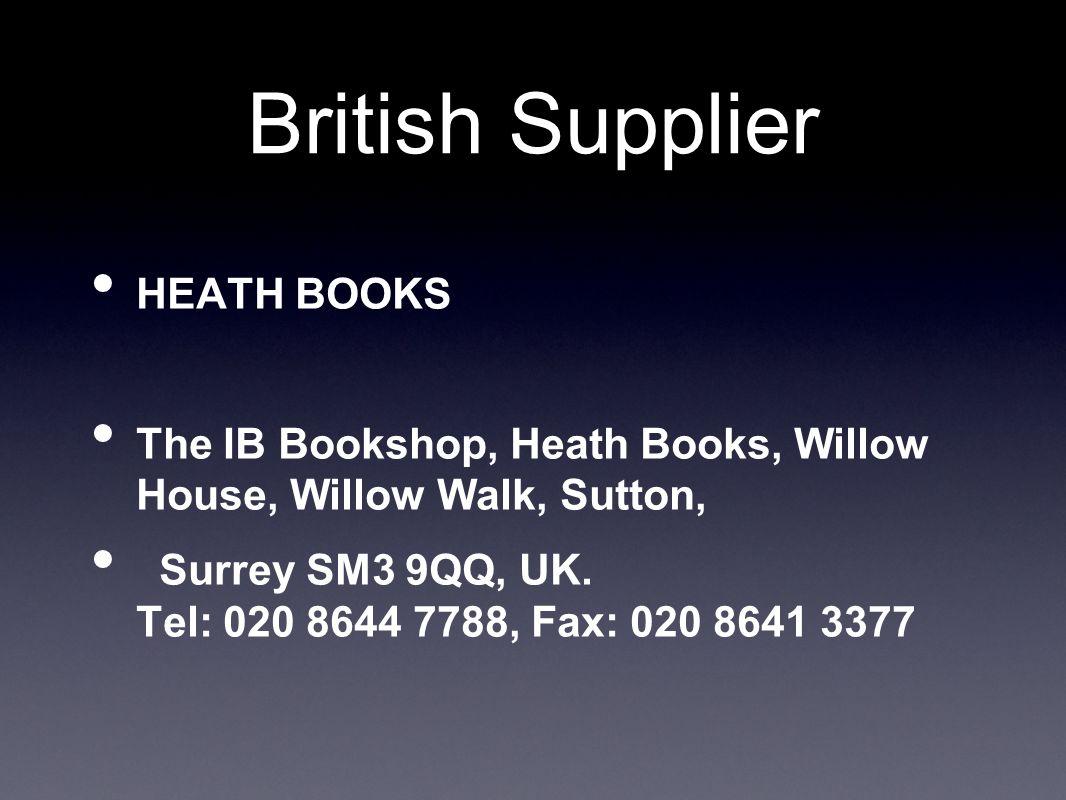 British Supplier HEATH BOOKS