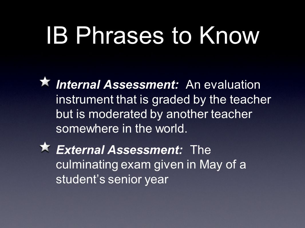 IB Phrases to Know