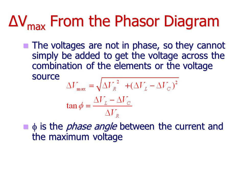 ΔVmax From the Phasor Diagram