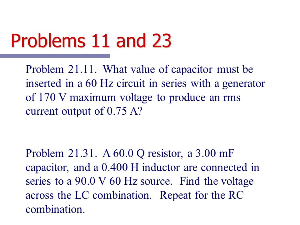 Problems 11 and 23