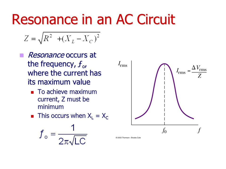 Resonance in an AC Circuit