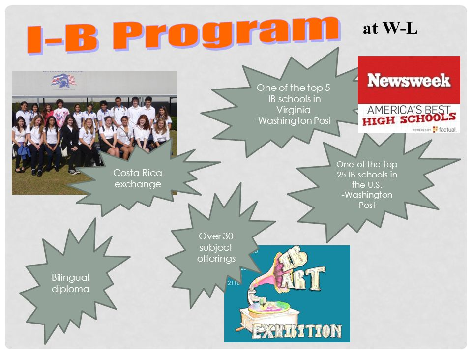 I-B Program at W-L One of the top 5 IB schools in Virginia