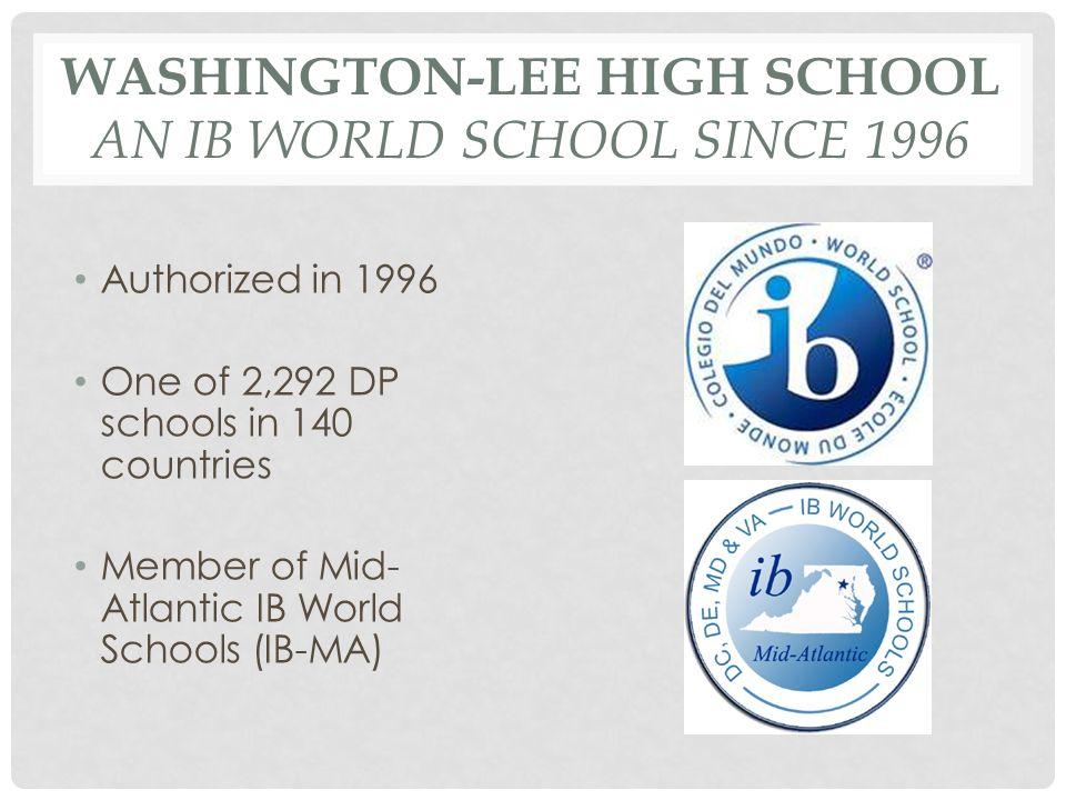 Washington-Lee High School An IB World School Since 1996