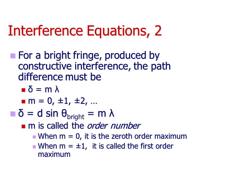 Interference Equations, 2