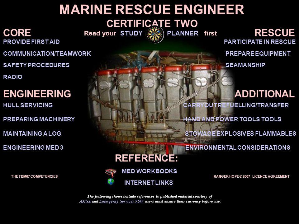 MARINE RESCUE ENGINEER