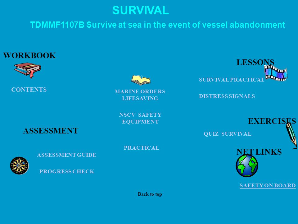 SURVIVAL TDMMF1107B Survive at sea in the event of vessel abandonment