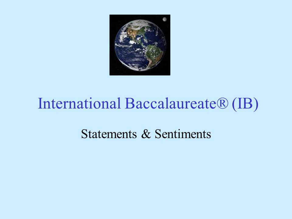 International Baccalaureate® (IB)
